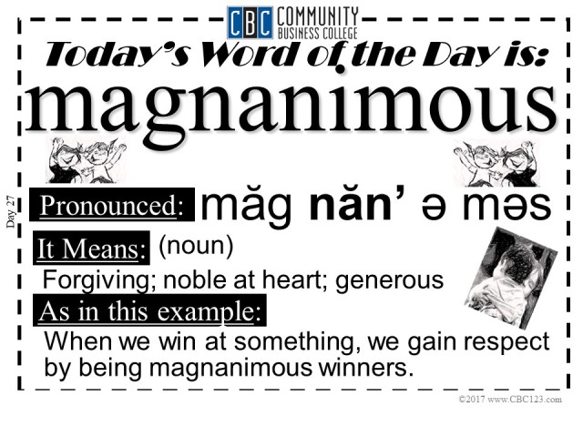Magnanimous_CBC123_Word_of_The_Day